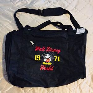 Mickey Mouse Walt Disney Black Duffel Bag Unisex